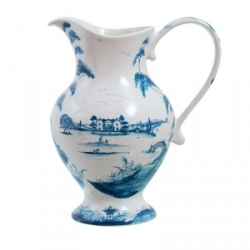 Country Estate Delft Blue Lg Footed Pitcher Retired
