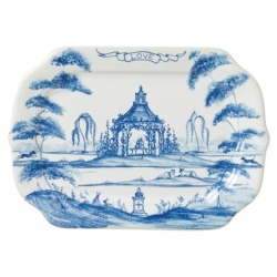 Country Estate Delft Blue Love Gift Tray Rose Arbor