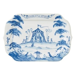 Country Estate Delft Blue Congratulations Gift Tray Retired