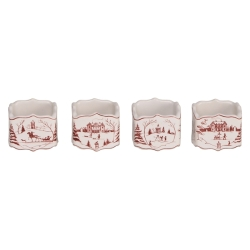 Country Estate Ruby Napkin Ring Set/4- Retired
