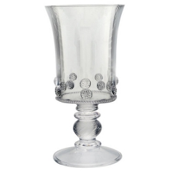 Fiorella Grande Footed Vase Clear
