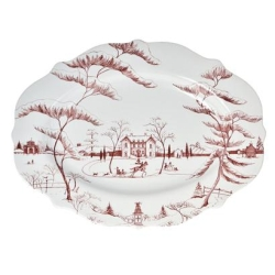 Country Estate Ruby Lg Serving Platter Winter Frolic, Main House - Retired -1 left