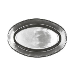 Pewter Stoneware Medium Oval Platter