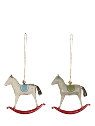 Metal Rocking Horse Ornament