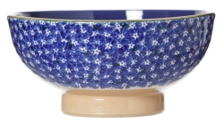 Dark Blue Lawn Vegetable Bowl