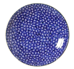Lawn Pattern Dark Blue Shallow Dish