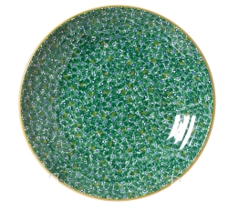 Lawn Pattern Green Shallow Dish