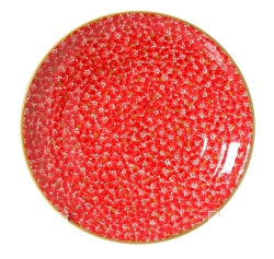 Red Lawn Shallow Dish