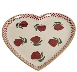 Apple Med Heart Shaped Plate