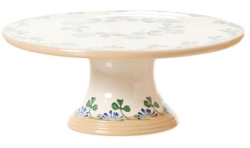 Clover Footed Cake Plate 9''