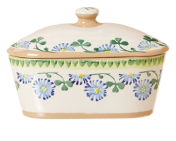 Clover Covered Butter Dish