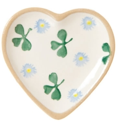 Clover Tiny Heart Plate