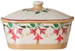 Fuchsia Covered Butter Dish