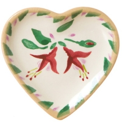 Fuchsia Tiny Heart Plate