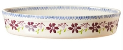 Clematis Medium Oval Oven Dish