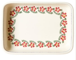 Old Rose Large Rectangular Oven Dish