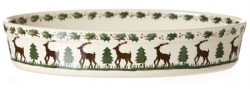 Reindeer Oval Oven Dish - Medium