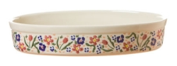 Wild Flower Meadow Small Oval Oven Baking Dish