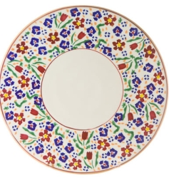 Wild Flower Meadow Footed Cake Plate 9''