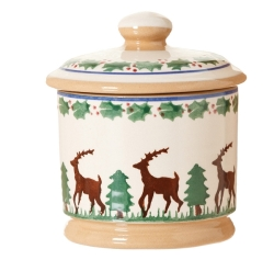Reindeer Lidded Sugar Bowl