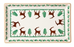 Reindeer Medium Rectangular Plate