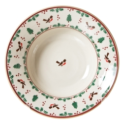 Winter Robin Pasta Serving Bowl