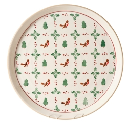 Winter Robin Presentation PLatter