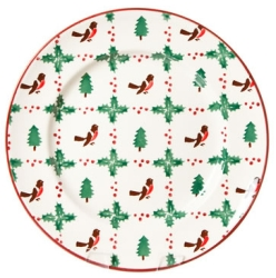 Winter Robin Serving (Dinner) Plate