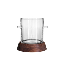 Ludlow Ice Bucket with Wood Base
