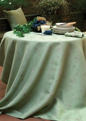 Folia (Bird)Tablecloth  Green 110 in x 71in