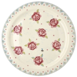 Rose and Bee Cake Plate