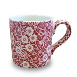 Red Calico Mug 1/2 Pint