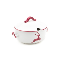 Wine Red Deer (Stag) Soup Tureen