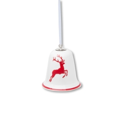 Ruby Red Deer (Stag) Bell Ornament