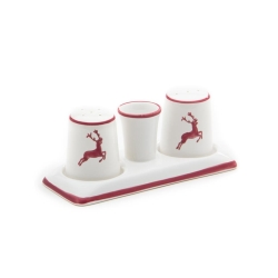 Wine Red Deer (Stag) Classic Salt  and  Pepper