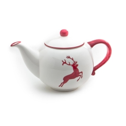 Wine Red Deer (Stag) Classic Teapot 16.9oz