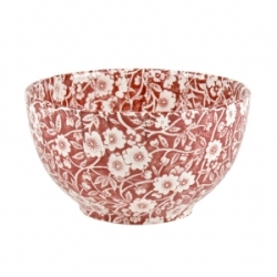 Red Calico Small Sugar Bowl
