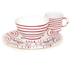Dizzy Red Coupe Place Setting