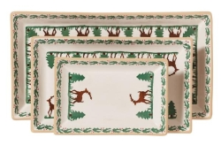 Reindeer Rectangular Dish Set/3