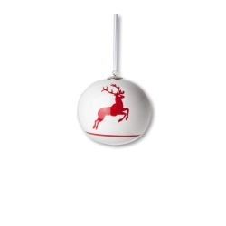Ruby Red Deer (Stag) Christmas Ball Ornament