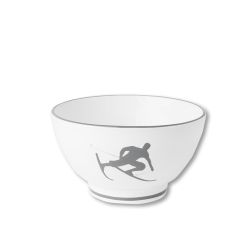 Toni the Skier Coupe French Style Cereal Bowl 5.5'' , Grey