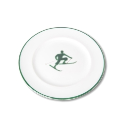 Toni the Skier Dessert Gourmet Plate Green-13 available
