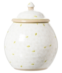 White Lawn Cookie Jar