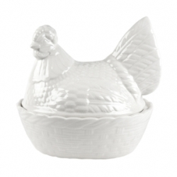 Natural White Hen Basket