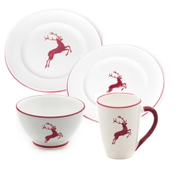 Bordeaux Red Deer Gourmet Place Setting