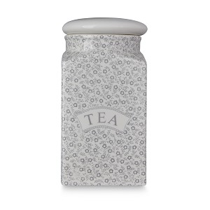 Dove Grey Felicity Tea Square Covered Storage Jar