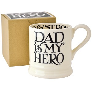 Black Toast Father's Day 1/2pt Mug Boxed-Dad is my Hero