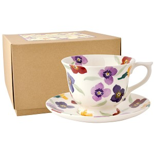 Wallflower Large Teacup  and  Saucer Boxed