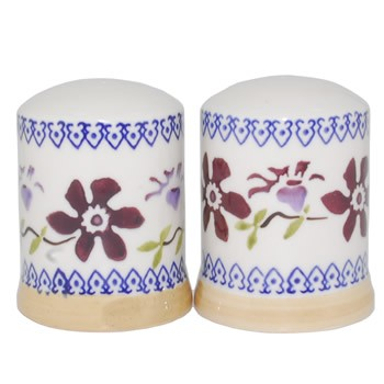 Clematis Salt  and  Pepper Shakers