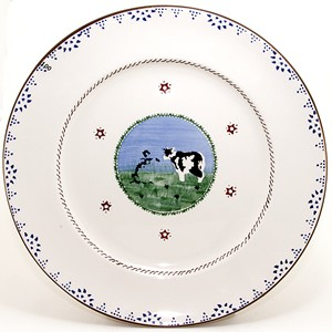 Cow Dinner Plate